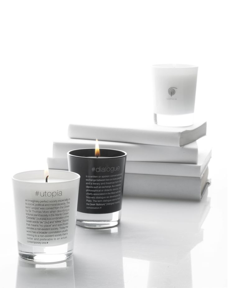 Scented candles: Philosophia collection