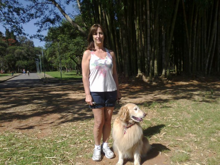 Kira e Sandra, num dia de recreação no Parque, as duas Ladys da minha vida.
