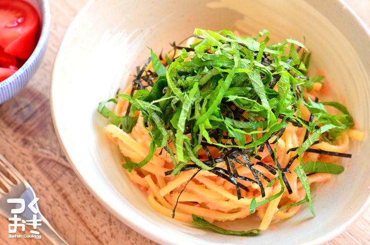 辛子明太子があれば、パスタを茹でてすぐにできる簡単パスタです。レンジ調理器具でパスタを茹でれば、さらに簡単なので、さっとご飯を食べたいときにもオススメです。