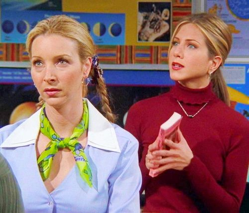 """Friends - Phoebe & Rachel """"Well, yes, feminism, but also the robots.'"""
