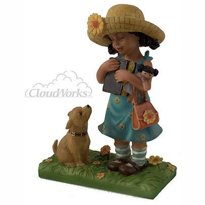 CloudWorks Sweet Memories Ebony Girl with Bible figurine