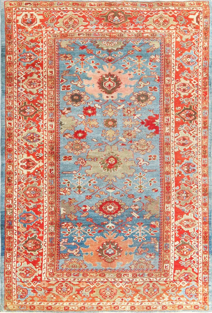 Click here to view this Beautiful Allover design Antique Blue Background Persian Sultanabad Rug 49209 by Nazmiyal Antique Rugs