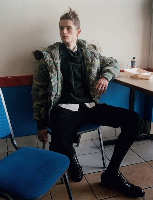 "Kipras Baltrunas in ""The Young Dude"" by Gareth McConnell for Dazed & Confused July 2012 (Styling by: Bryan McMahon)"