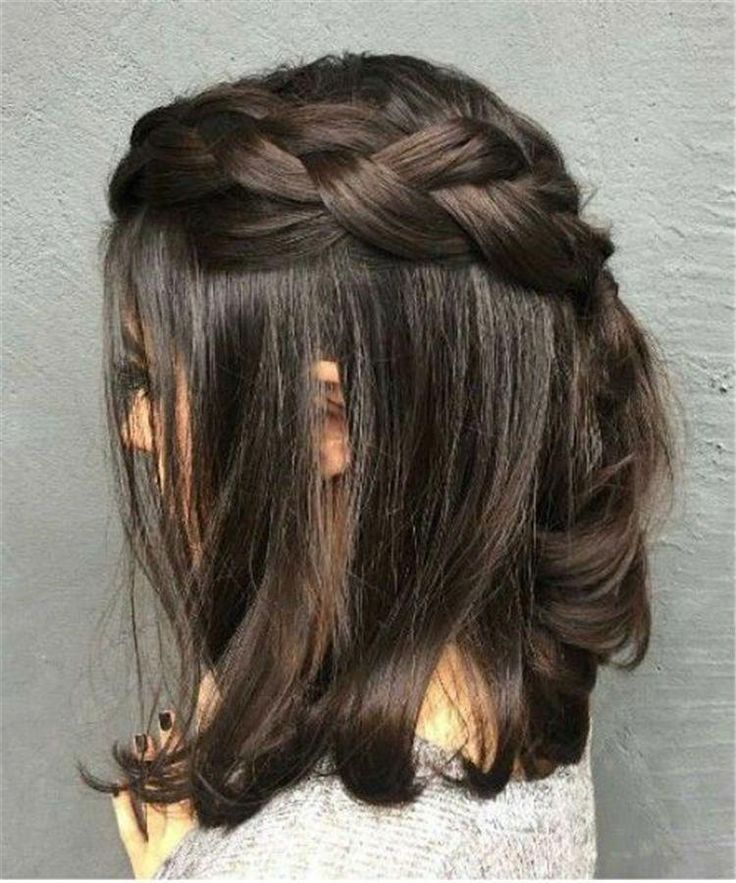 Braiding Short Hair; The Trendiest Braiding Hairstyles; Elegant Dutch Braids;Perfectly Cornbraids; Hairstyles Ideas With Side Braids; #shorthair