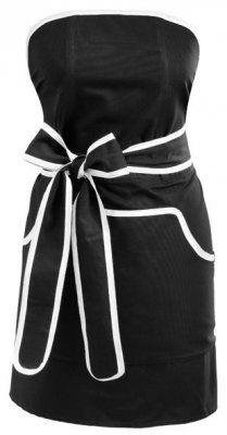 Förkläde Cupcake, svart med vitt kantband