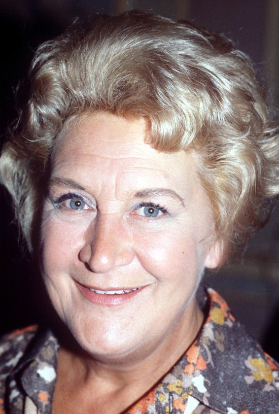 Mollie Sugden - Actress. Cremated, Golders Green Crematorium, London, England. Plot: Ashes scattered in the Rose Garden