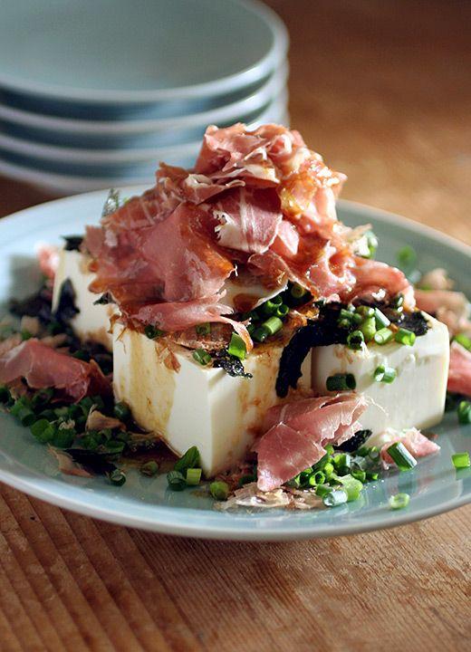 Chilled Tofu with Ham