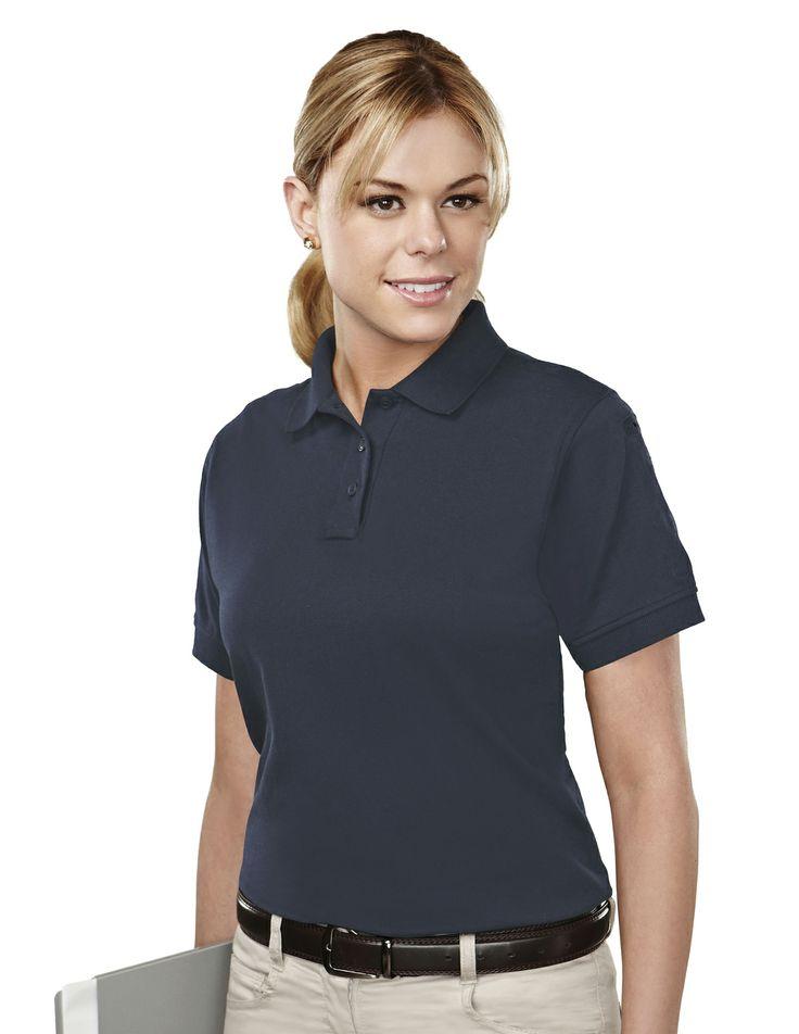 Women's Knit Polo Shirt With Mic Loops & Pen Pocket (60% Cotton/ 40% Polyester). Tri mountain 011 #Womenswear #Women #stylish  #KnitShirt #poloShirt  #PenPocket