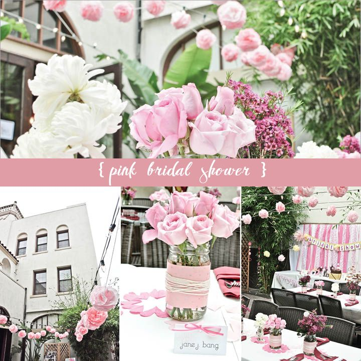 Pink + White Bridal Shower Details