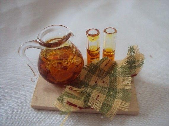 DOLLS HOUSE MINIATURES - Iced Tea or PImms Set
