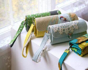 Bolso de mano para tu cartera - monedero/mujer/hecho a mano cartera carteras/bolsos de las mujeres cartera tela y bolsos/carteras para las mujeres/de piel volantes