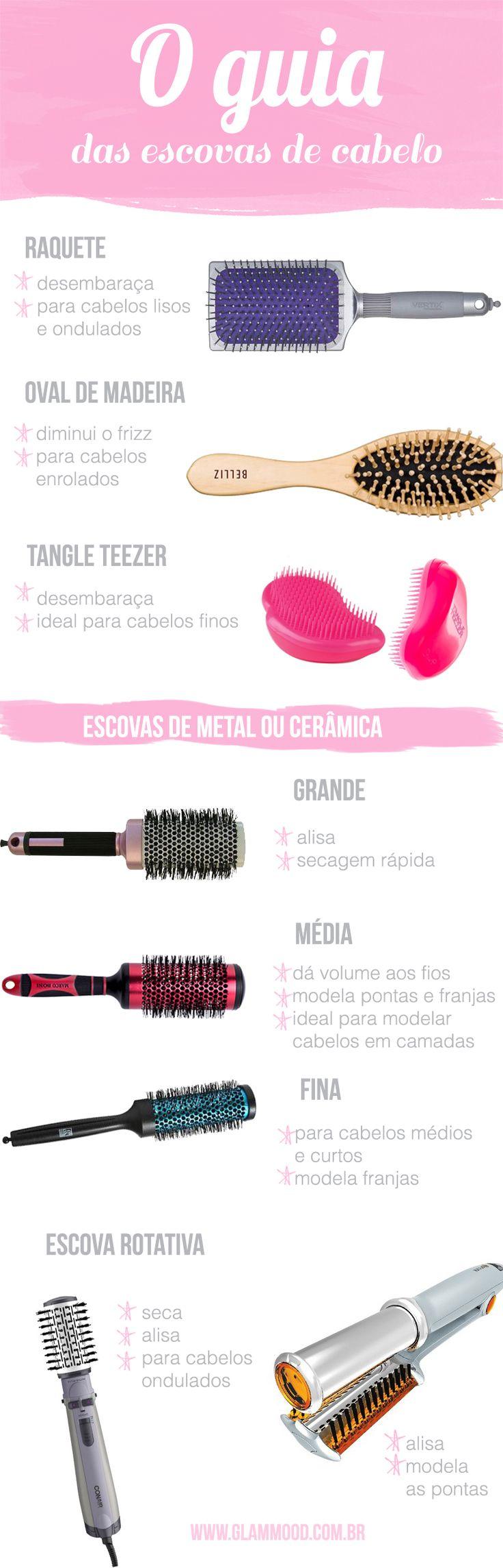 O guia das escovas de cabelo