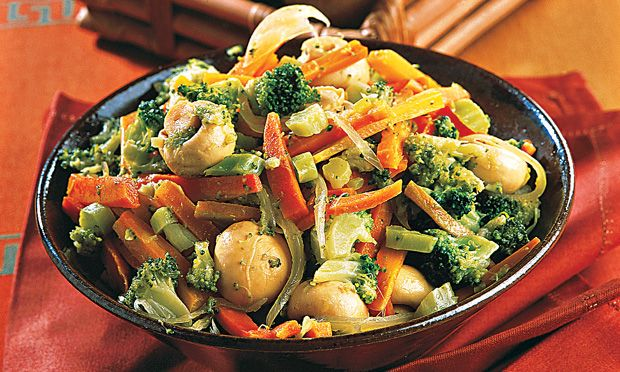 Receita de Mix de legumes refogados - Refogado - Dificuldade: Fácil - Calorias: 270