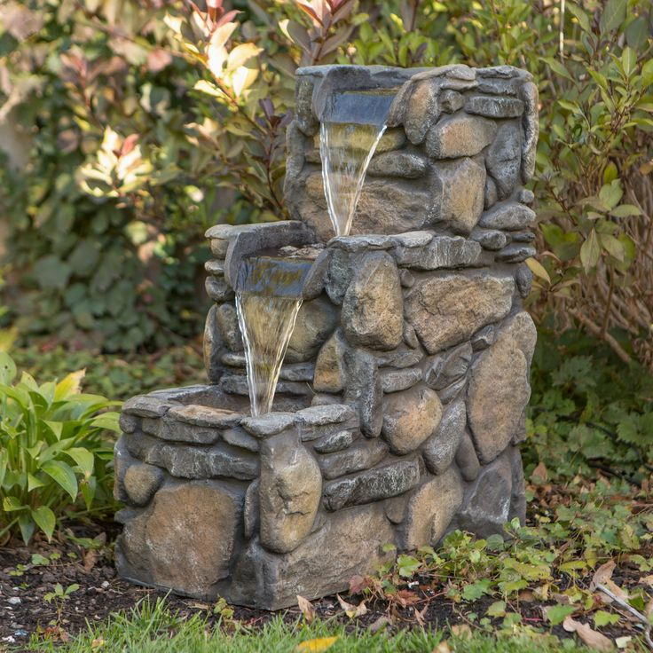 Have To Have It 3 Tier Rock Outdoor Fountain 199 98 400 x 300