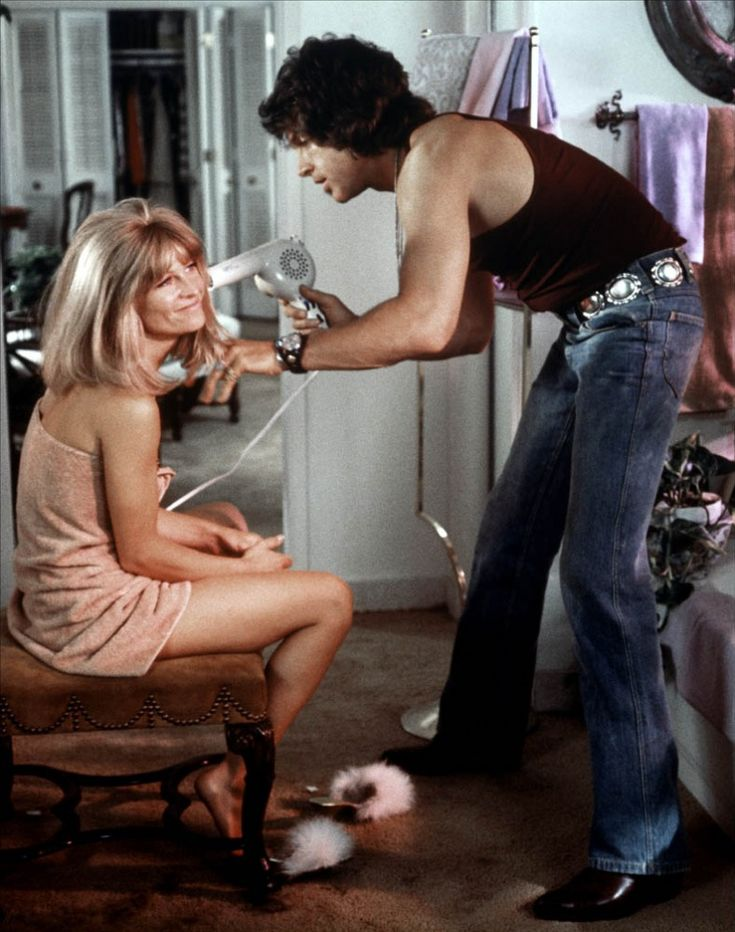Julie Christie and Warren Beatty in Shampoo directed by Hal Ashby, 1975