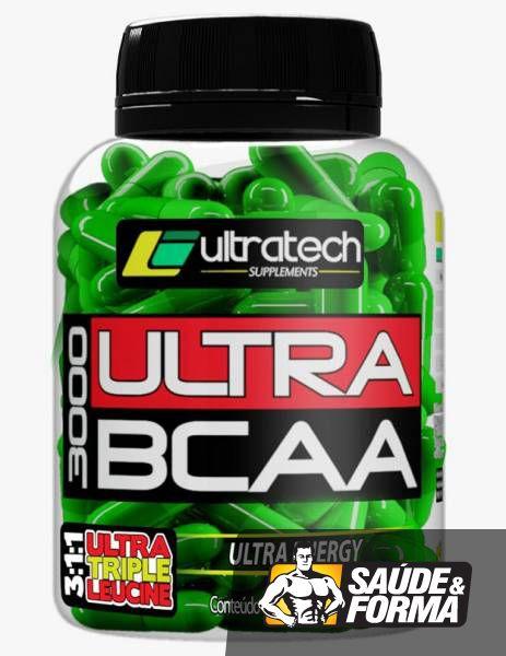O Ultra BCAA 3000 da Ultratech é um suplemento alimentar com o objetivo de fornecer energia, evitar a fadiga muscular durante os treinos e o catabolismo muscular. Suporte ideal para a manutenção do crescimento de massa muscular magra.