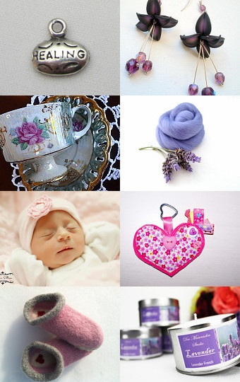 Treasury featuring our organic french lavender filled heart ♥