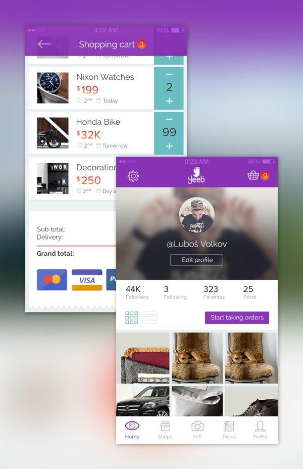 Yeeb iOS & Android app