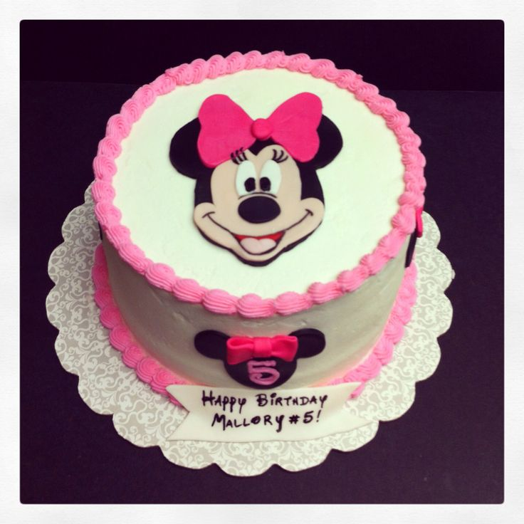 Simple Pink Minnie Mouse Cake My Cakes Pinterest