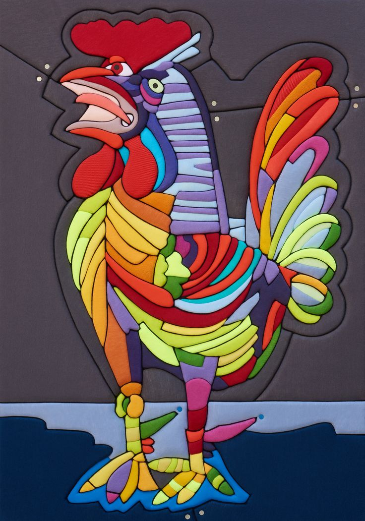 "Sculture Vestite di Stefano Bressani ""Gallo-Omaggio a Picasso"" 100x70x8 cm - 2015 Opera n° 368 All rights reserved ©"