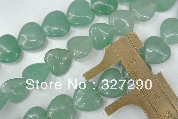 Форма сердца полудрагоценный камень серии 14 мм зеленый авантюрин форма сердца прядь бусины 16 '' 5 пк / много
