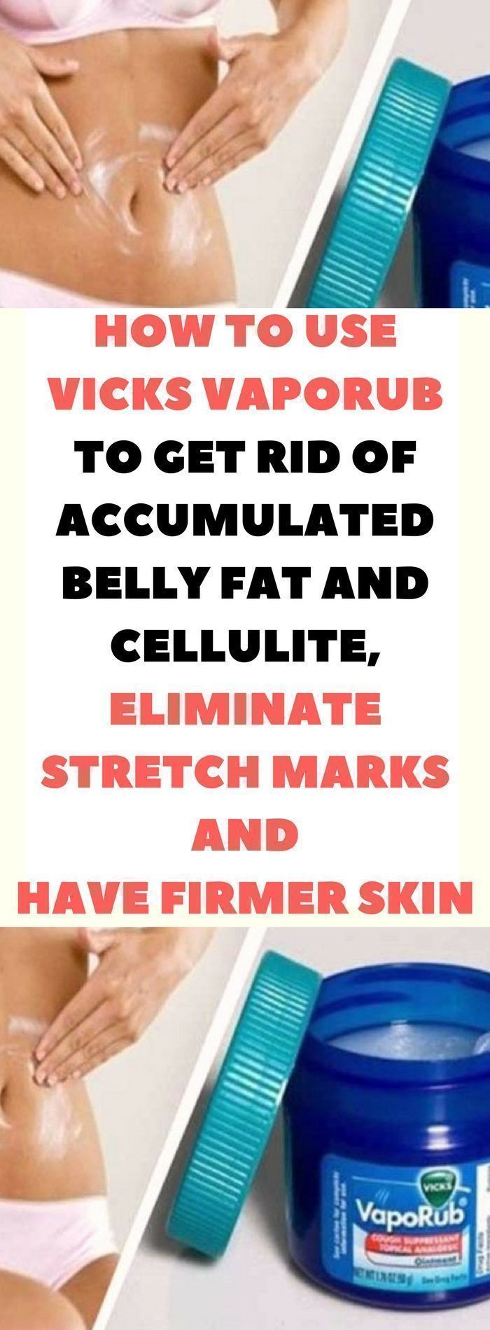 HOW TO USE VICKS VAPORUB TO GET RID OF ACCUMULATED BELLY FAT AND CELLULITE; ELIMINATE STRETCH MARKS AND HAVE FIRMER SKIN. Miracle.!! belly fat workout | belly fat diet | belly fat burner | belly fat burning foods | belly fat burner drink | Belly Fat | How To Lose Belly Fat | Elena's Belly Fat Diary | Belly Fat Tea | Belly Fats | Belly Fat Diet |