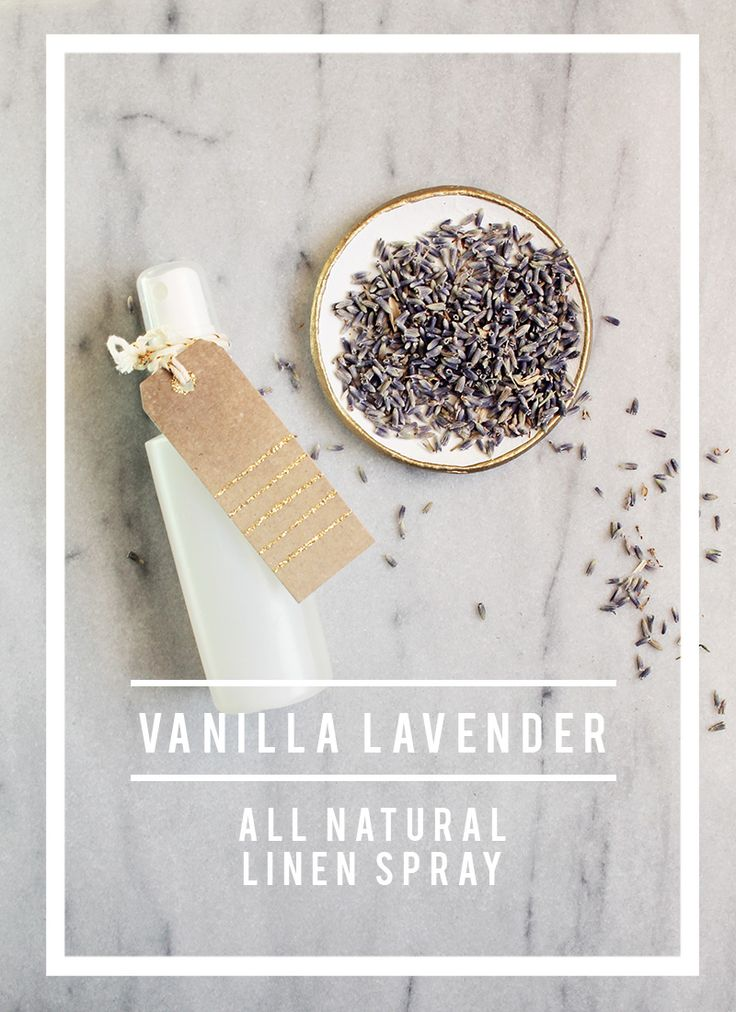 I love to mist this Vanilla Lavender Linen Spray over bed sheets, guest towels, bath robes…