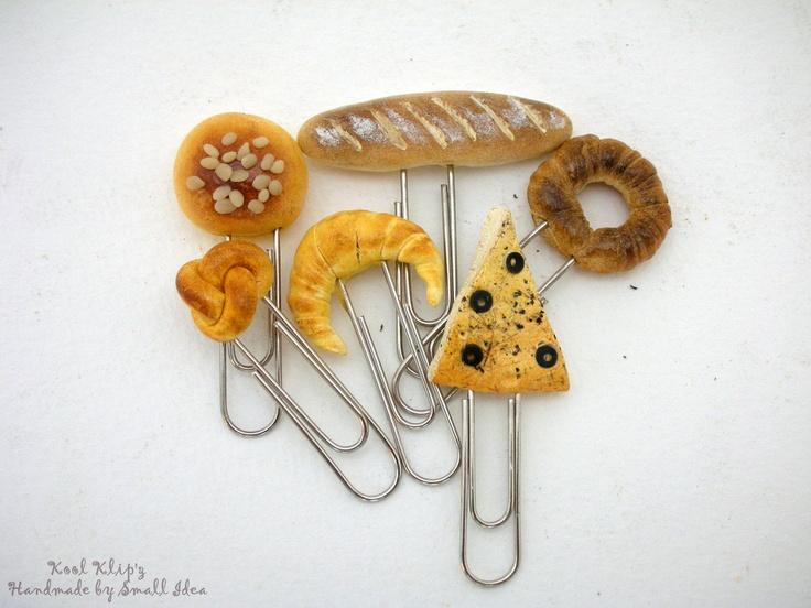 Paper Clips in Handmade Bread by SmallIdea on Etsy. $9.97 USD, via Etsy.