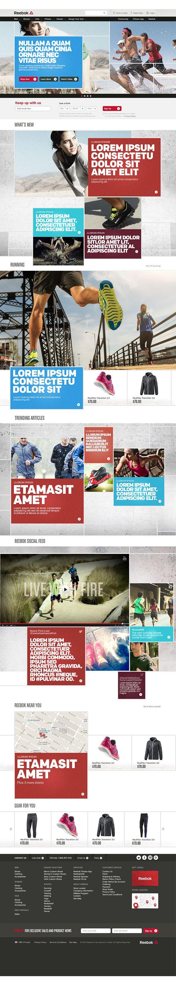 web design | Reebok.com