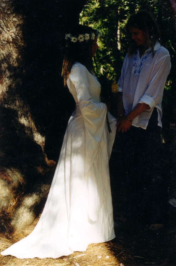 Pure cotton medieval wedding dress Made by Mystic Rose