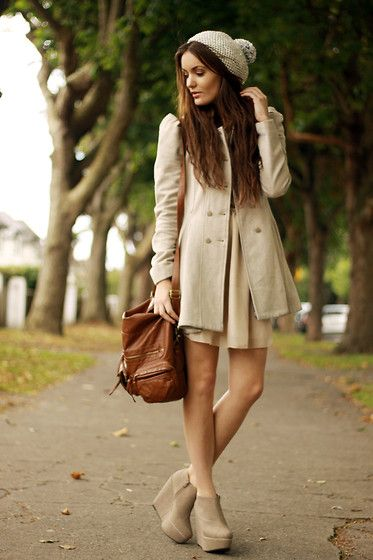 BeigeHats, Shoes, Ankle Boots, Street Style, Winter Outfit, Fall Looks, Fall Fashion, Fall Outfit, Winter Coats