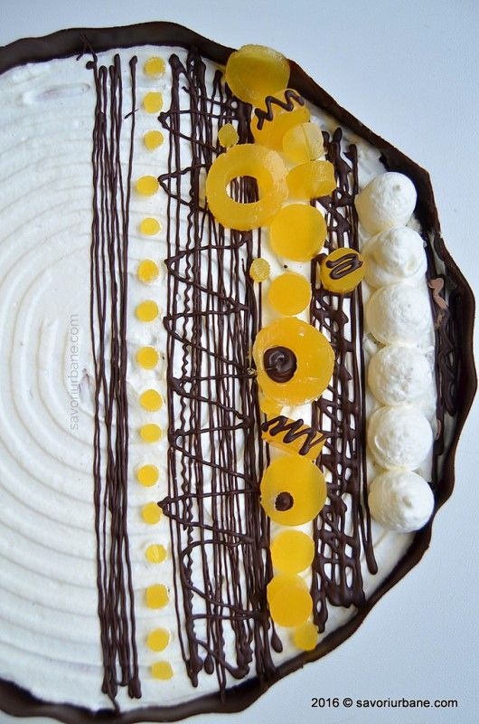 Tort aniversar cu mousse de ciocolata si jeleu de portocale Savori Urbane (2)
