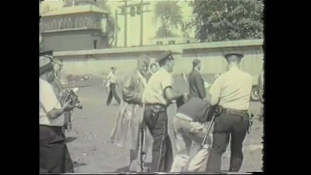 Footage from Kartemquin Films' upcoming documentary '63 Boycott, appears to feature Bernie Sanders being arrested in 1963 at a school segregation protest in Englewood, Chicago. More info here: 63boycott.kartemquin.com/blog/bernie