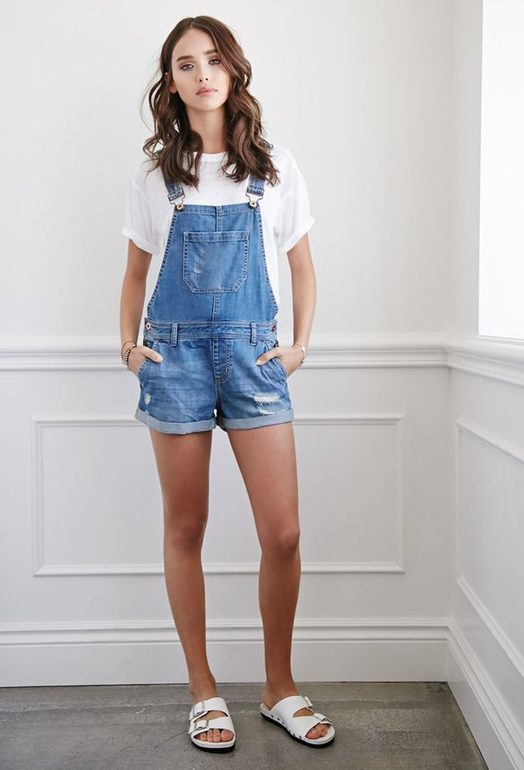 Top 25  best Overall shorts outfit ideas on Pinterest | Dungarees ...