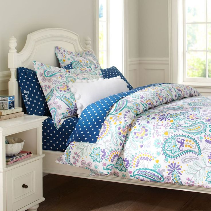 bedroom in small space swirly paisley duvet cover sham pbteen maddy 14330