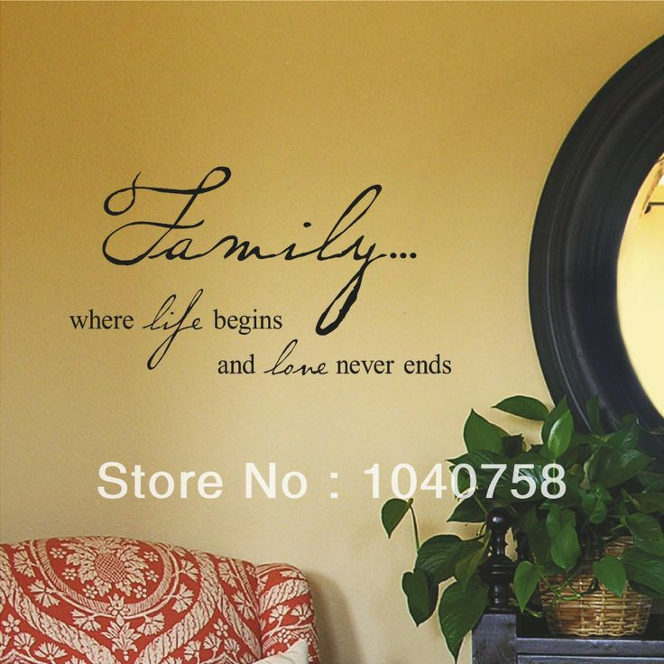 34 best Wall Quotes and Sayings images on Pinterest | Wall decal ...