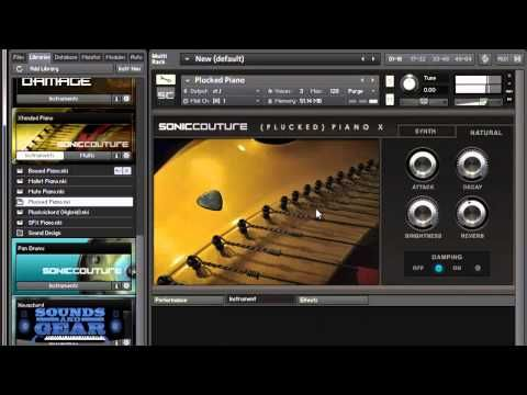 Checking out a prepared piano library from Soniccouture called Xtended Piano for Native Instruments Kontakt and Kontakt Player