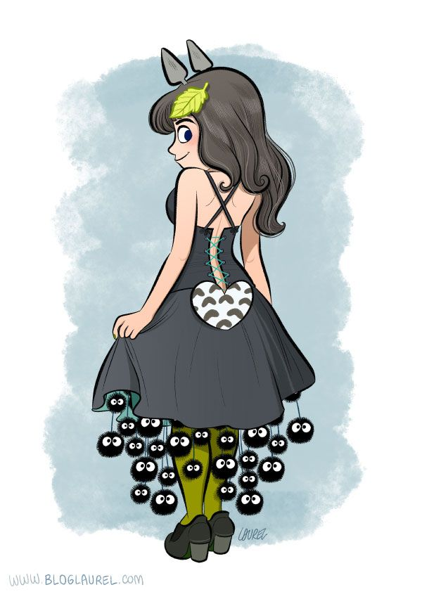 La robe Totoro.