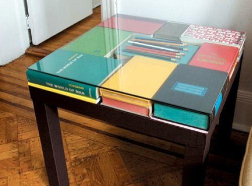 DIY IKEA Lack table bookcase