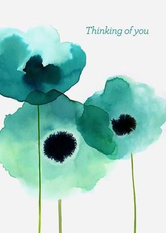 image result for blue green watercolor card arts crafts
