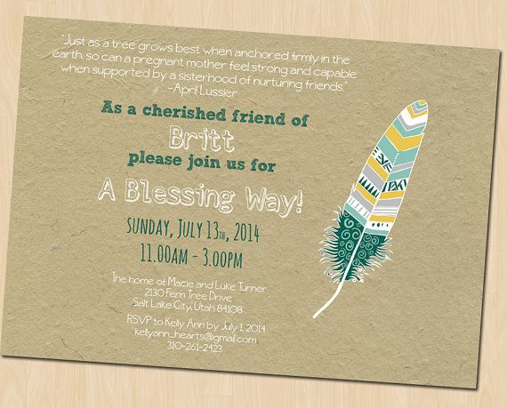 Baby Blessing Invitation Blessing Way By GreenDoorHandmade On Etsy