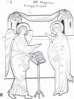 25η Μαρτίου, Ευαγγελισμός- Ζωγραφική
