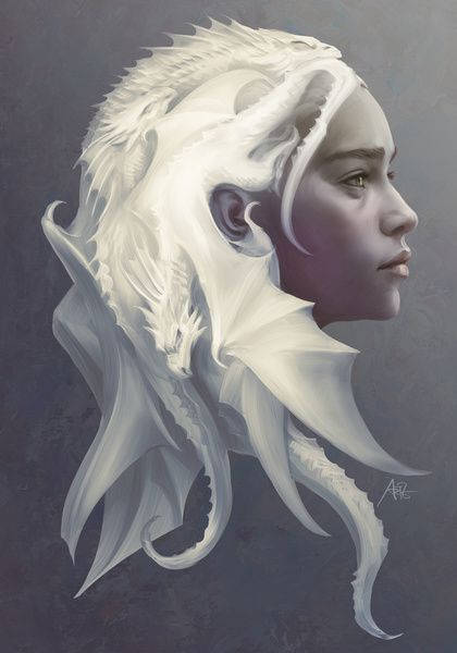 Mother of Dragons Stretched Canvas