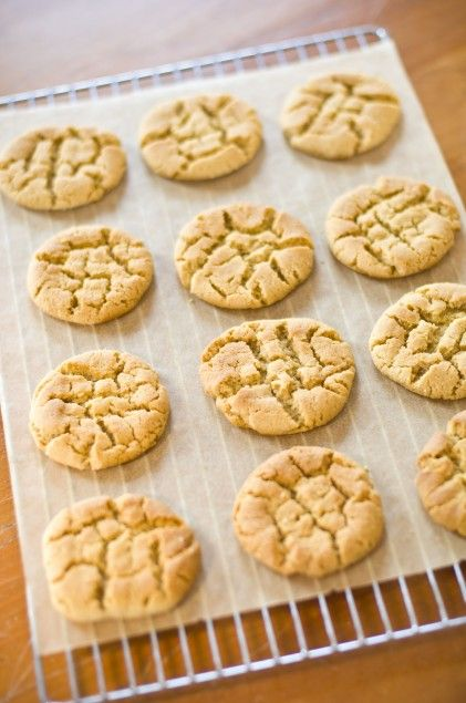 Dairy, egg and nut free soy nut butter cookies.  These were amazing. Taste just like peanut butter cookies. Great for kids with allergies :)