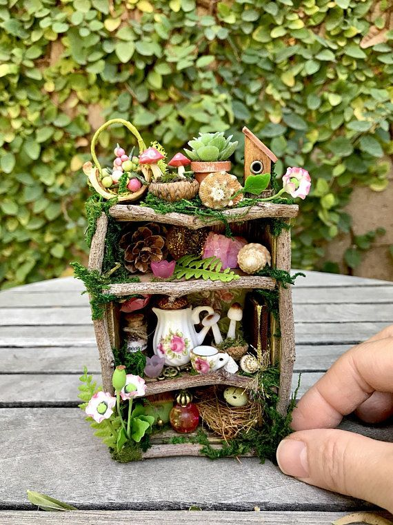 Fairy Garden Furniture Dollhouse, Diy Miniature Fairy Garden Furniture