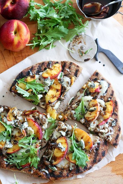 Rustic Grilled Peaches Pizza-9 by Sonia! The Healthy Foodie, via Flickr
