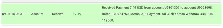 I am getting paid daily at ACX and here is proof of my latest withdrawal. This is not a scam and I love making money online with Ad Click Xpress.  To join ACX : http://www.adclickxpress.com/?r=jmk3uwe2reth&p=mx  Contact me if you have issues :  facebook : https://www.facebook.com/profile.php?id=100010123510132 gmail: ashsixthree.63@gmail.com