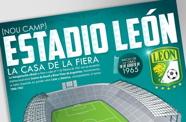 Estadio Leon Infographic by Julio Aldana, via Behance