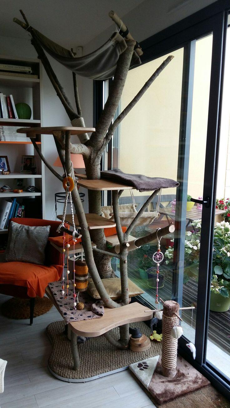 Diy notre arbre chat maison arbre a chat - Fabriquer arbre a chat maison ...