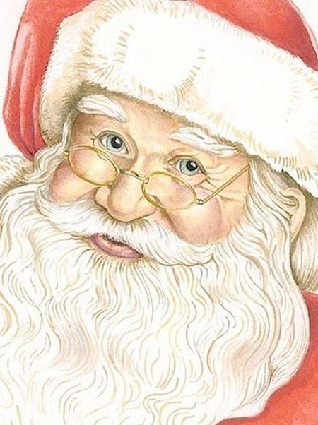 Reminds me of the Santas that my Dad use to draw